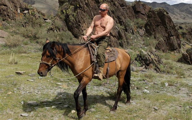 Putin riding a horse. Photo: Jedimentat44 (CC 2.0)