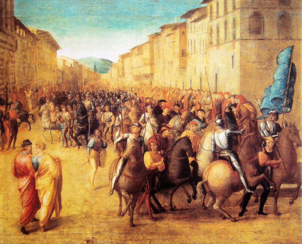French troops under Charles VII entering Florence, 1494. it is the art of dealing with fortuna as the force which directs such events and thus symbolises pure, uncontrolled, and unlegitimated contingency.