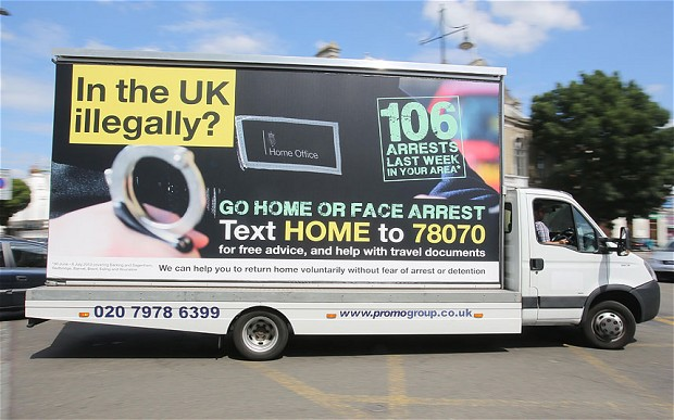 One of Theresa May's infamous vans. Photo: Rick Findler