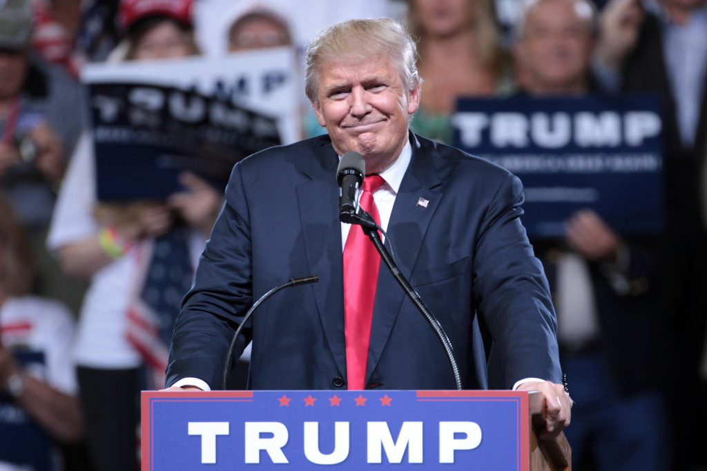 President-Elect Donald J. Trump during his election campaign in Arizona.
