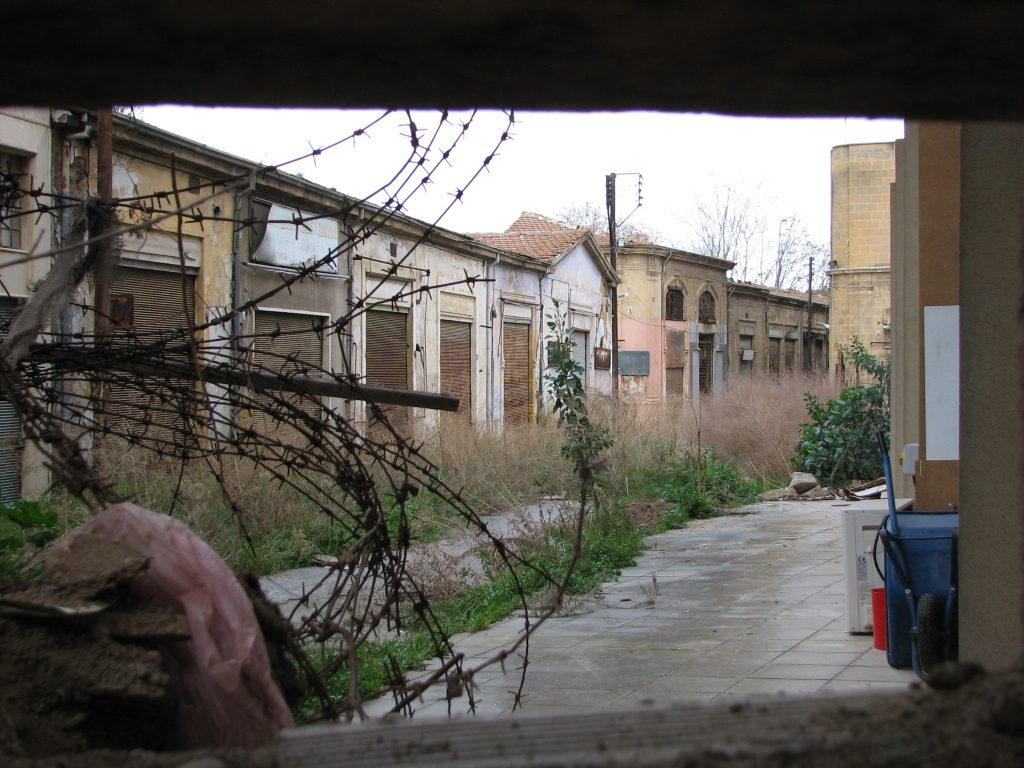 Development in Cyprus' Green Line that divides it in two is frozen along with the conflict.